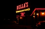 Bellas illuminated sign